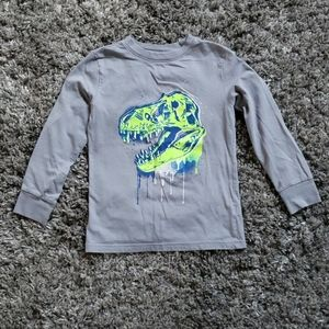Cat & Jack Dinosaur Graphic Long Sleeve T-shirt